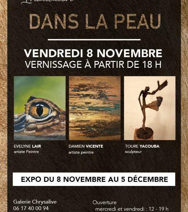 Affiche de l'exposition à la galerie Chrysalive