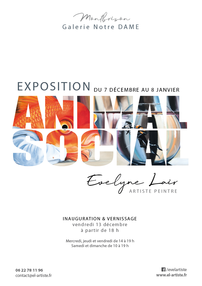 Affiche expo Animal social